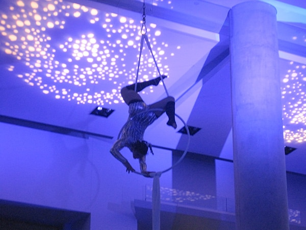 Trapeze Artist at CCIS Opening