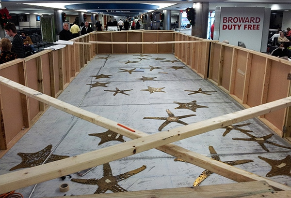 Terrazzo progress in the F Concourse - Fort Lauderdale-Hollywood International Airport