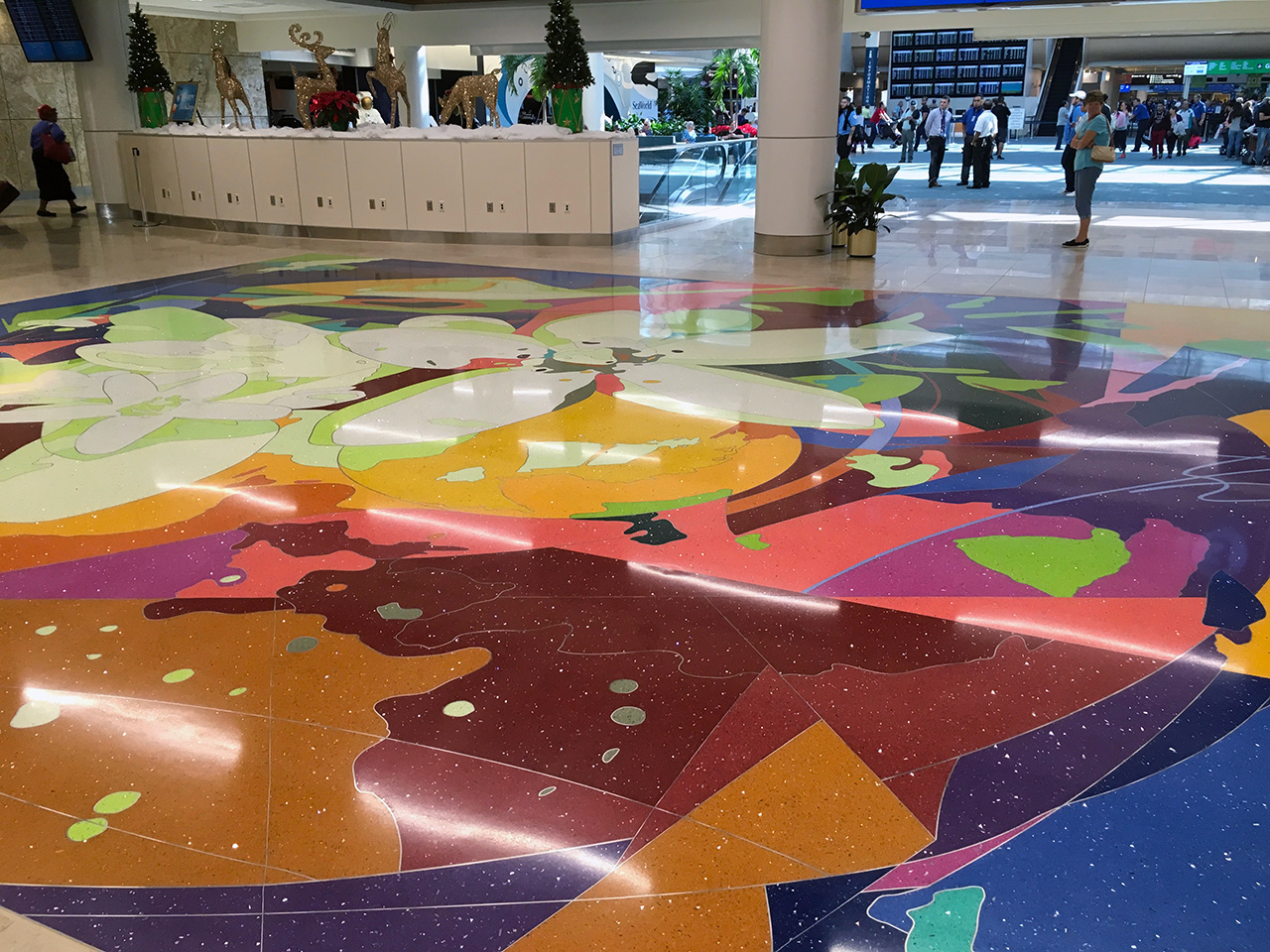 Wellness Garden Terrazzo Floor Unveiled In Orlando Scott